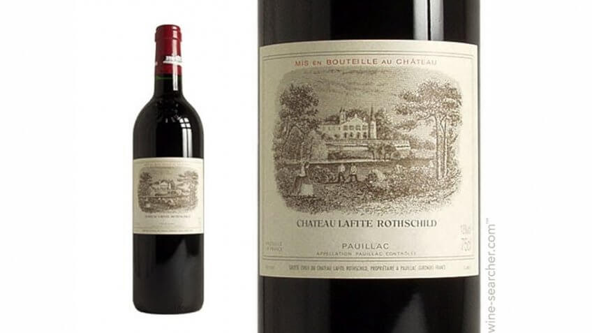 Bottle of Chateau Lafite Rothschild 2009.