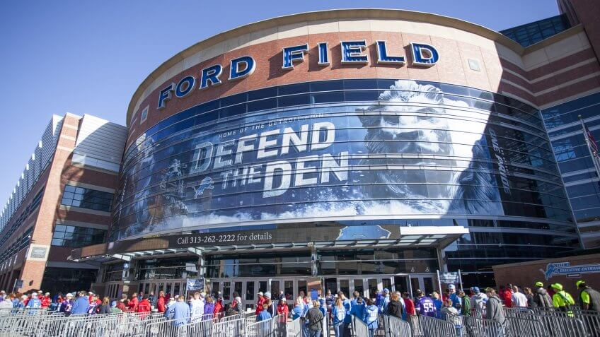 Detroit Lions Game at Ford Field: $231.92, Detroit-Lions-Ford-Field