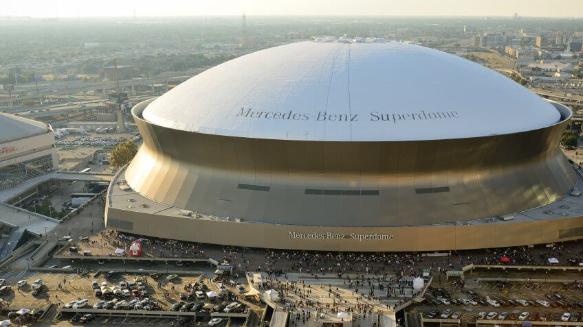 Ranked most and least expensive stadiums for nfl fans for Mercedes benz superdome parking prices