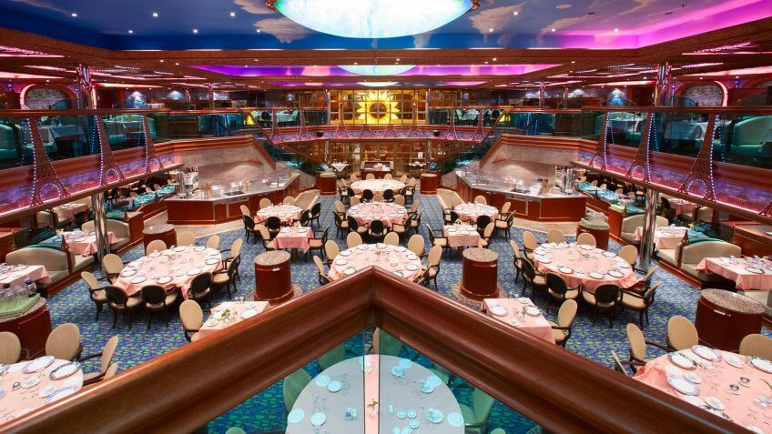fancy cruise dining room