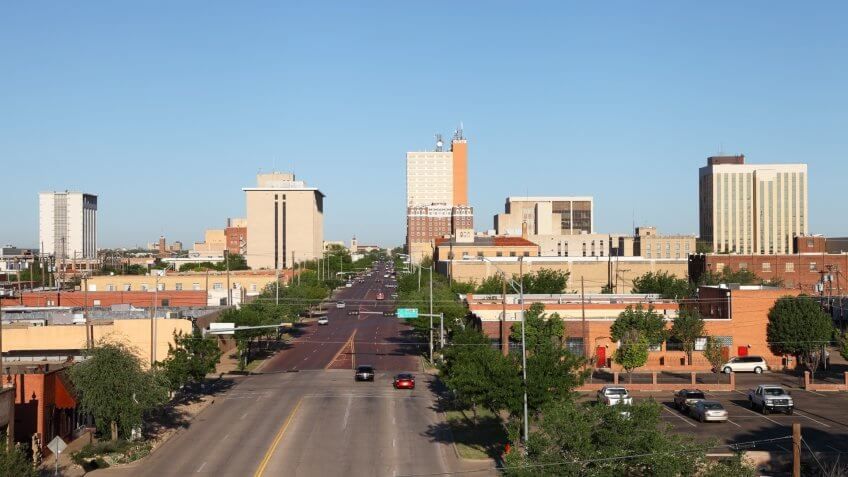 Downtown Lubbock, Texas