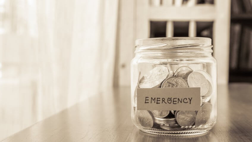emergency savings jar