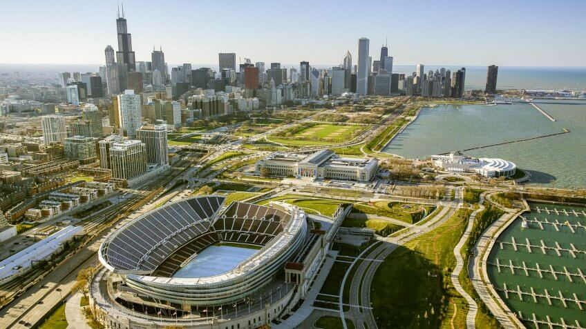 Chicago Bears Game at Soldier Field: $351.30, Chicago-Bears-Soldier-Field