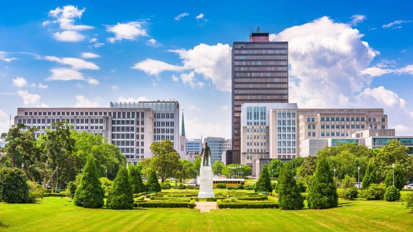 Baton Rouge, Louisiana, USA skyline from Louisiana State Capitol.