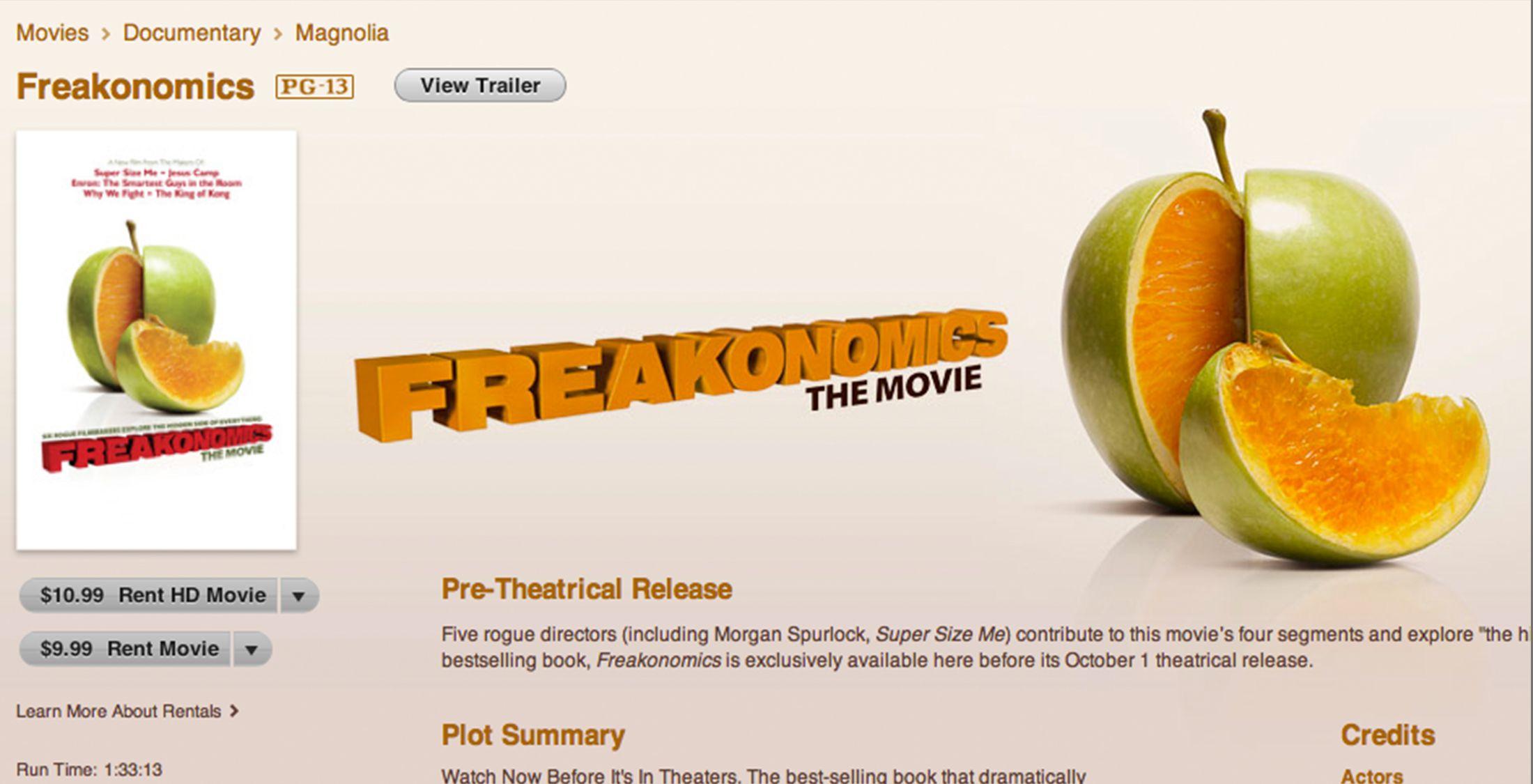 freakonomics movie page