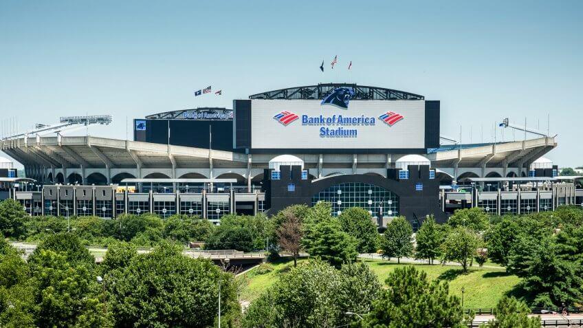 Carolina Panthers Game at Bank of America Stadium: $208.08, Carolina-Panthers-Bank-of-America-Stadium