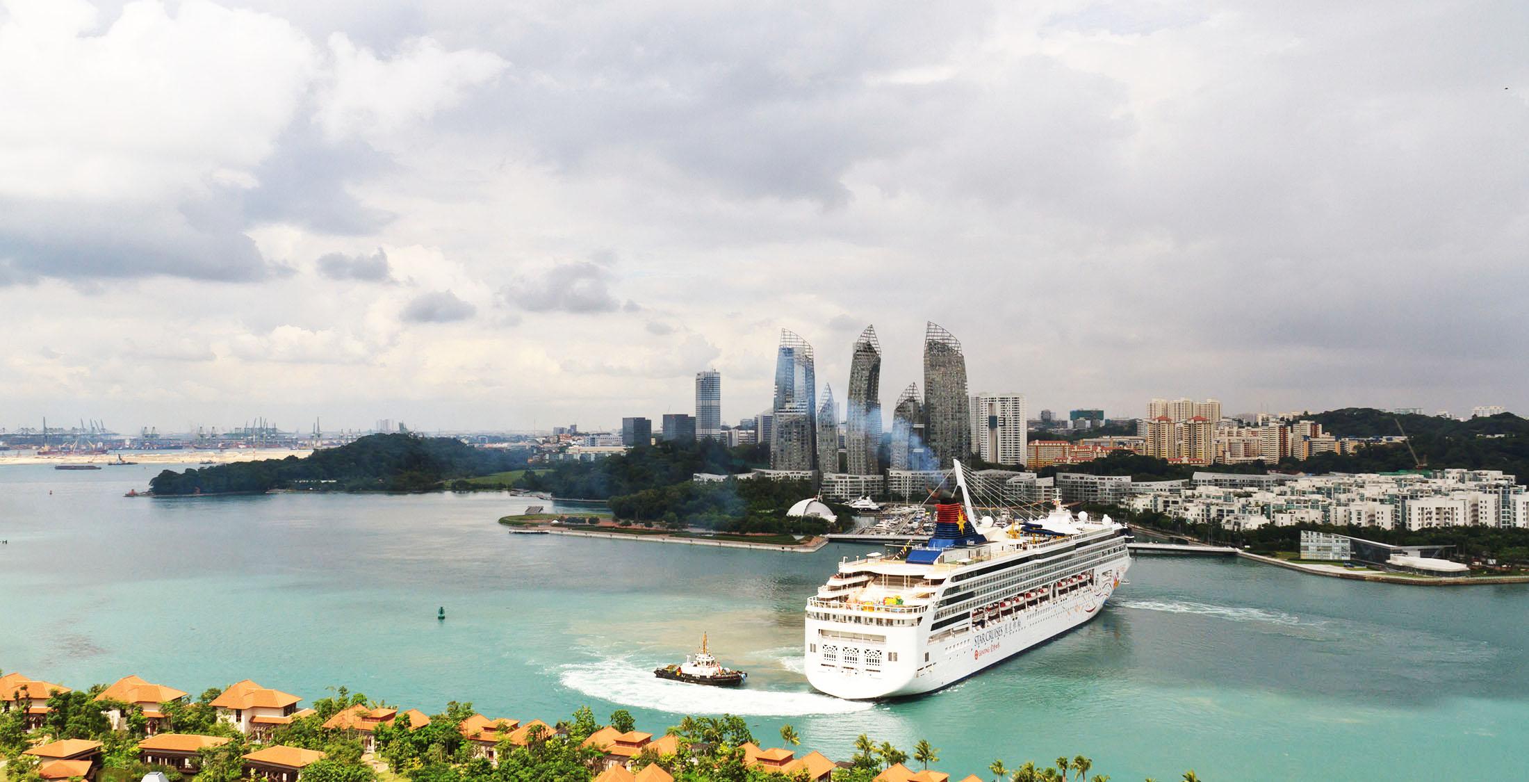 asian cruise in a bay