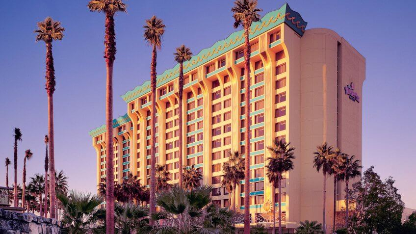 Paradise Pier Hotel suites.