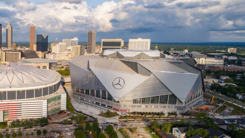 Atlanta Falcons Game at Mercedes-Benz Stadium: $215.66