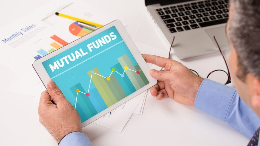 Mutual funds graph on tablet