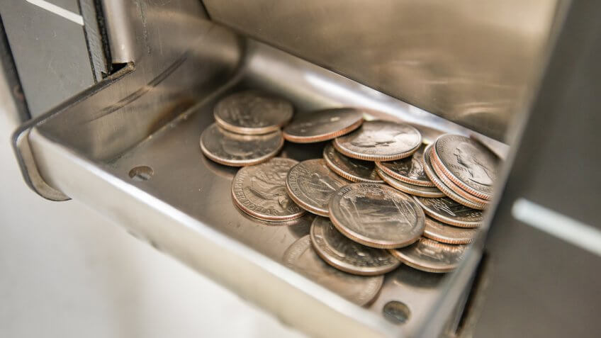 Quarters in a change machine