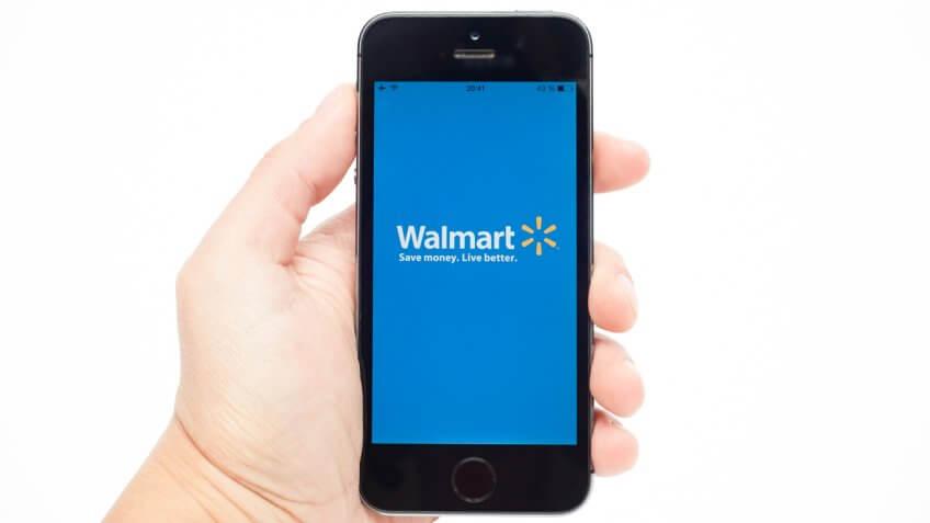 walmart logo on iphone