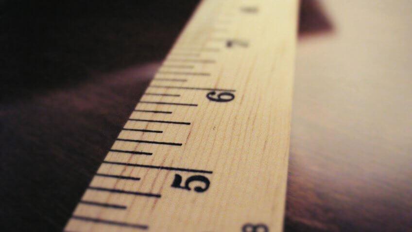 wooden ruler.