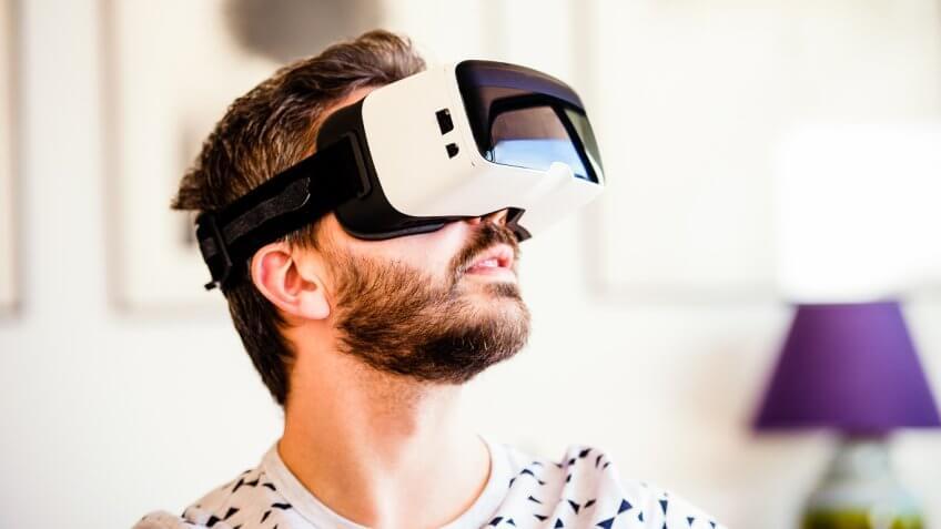 Man wearing High Fidelity headset