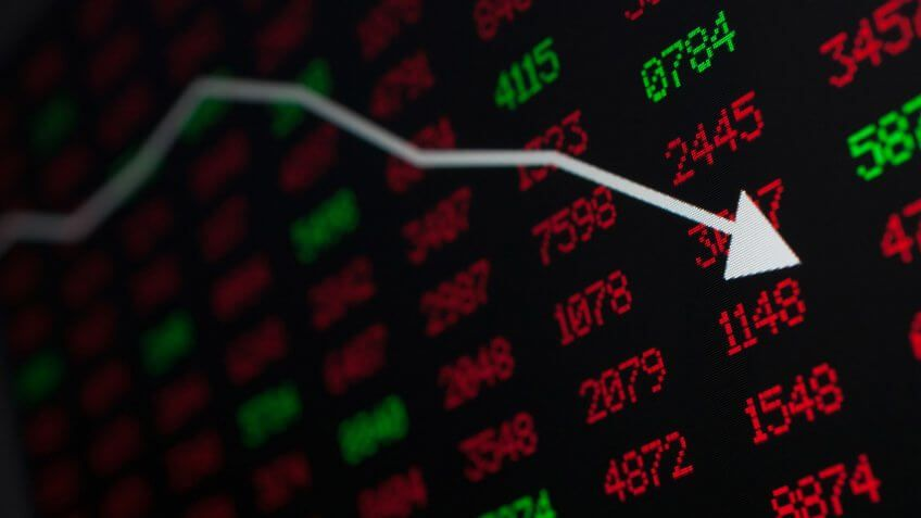 stock market numbers trending negatively