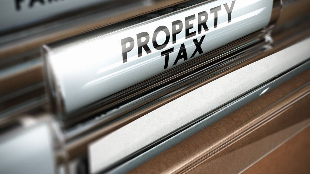 label that says property tax