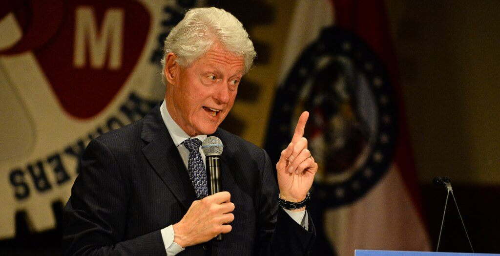bill clinton giving a speech