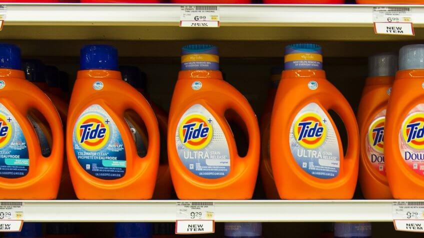Brand-name detergent