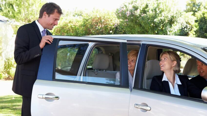 Carpool, or take a shared Uber/Lyft