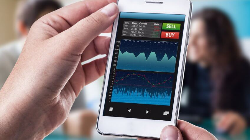 check stocks on mobile app