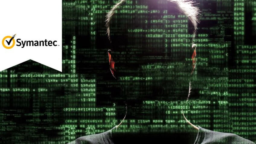 man inside transparent data waterfall