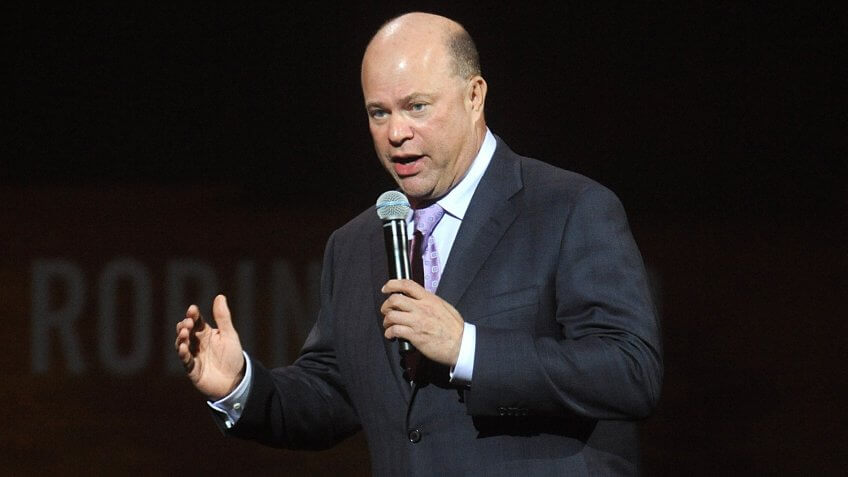 NEW YORK, NY - MAY 12:  American hedge fund manager David Teppers speaks at The Robin Hood Foundation's 2014 Benefit at the Jacob Javitz Center on May 12, 2014 in New York City.