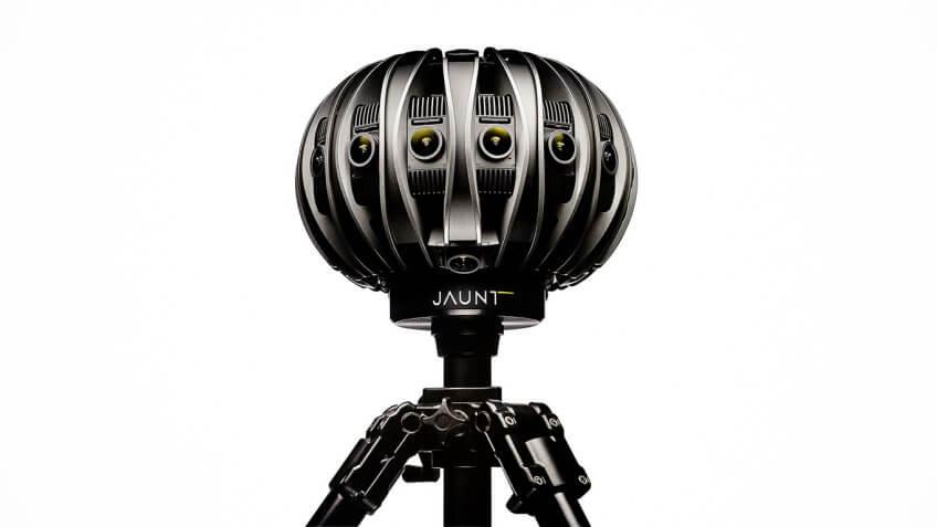 Jaunt virtual reality camera