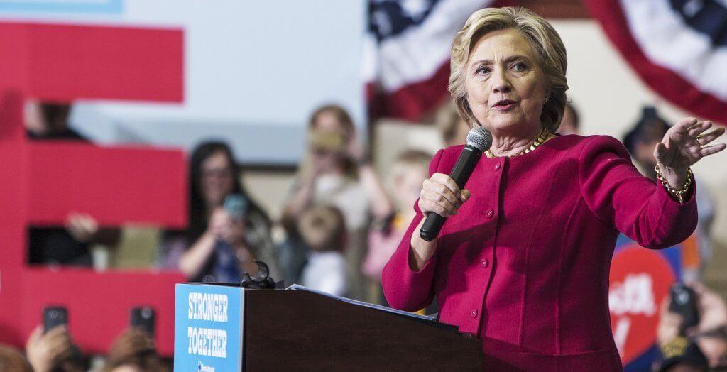 hillary clinton giving speech