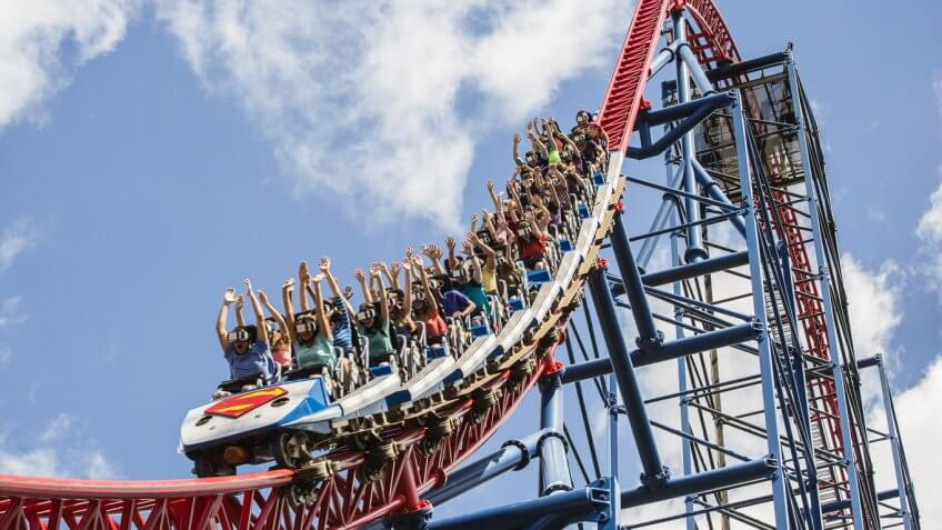 Six Flags' virtual reality roller coasters