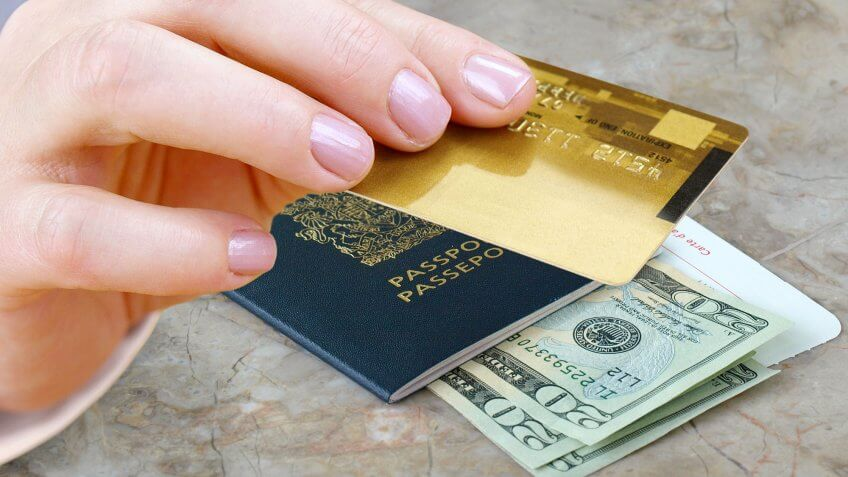 credit card passport cash