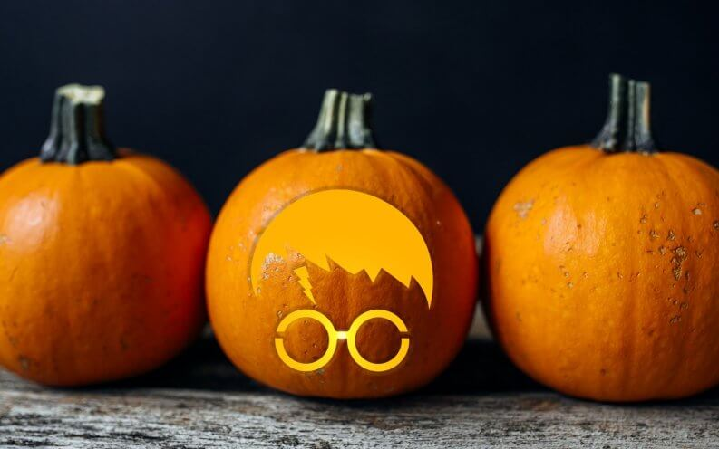 15 free printable pumpkin carving templates gobankingrates for Harry potter pumpkin carving templates