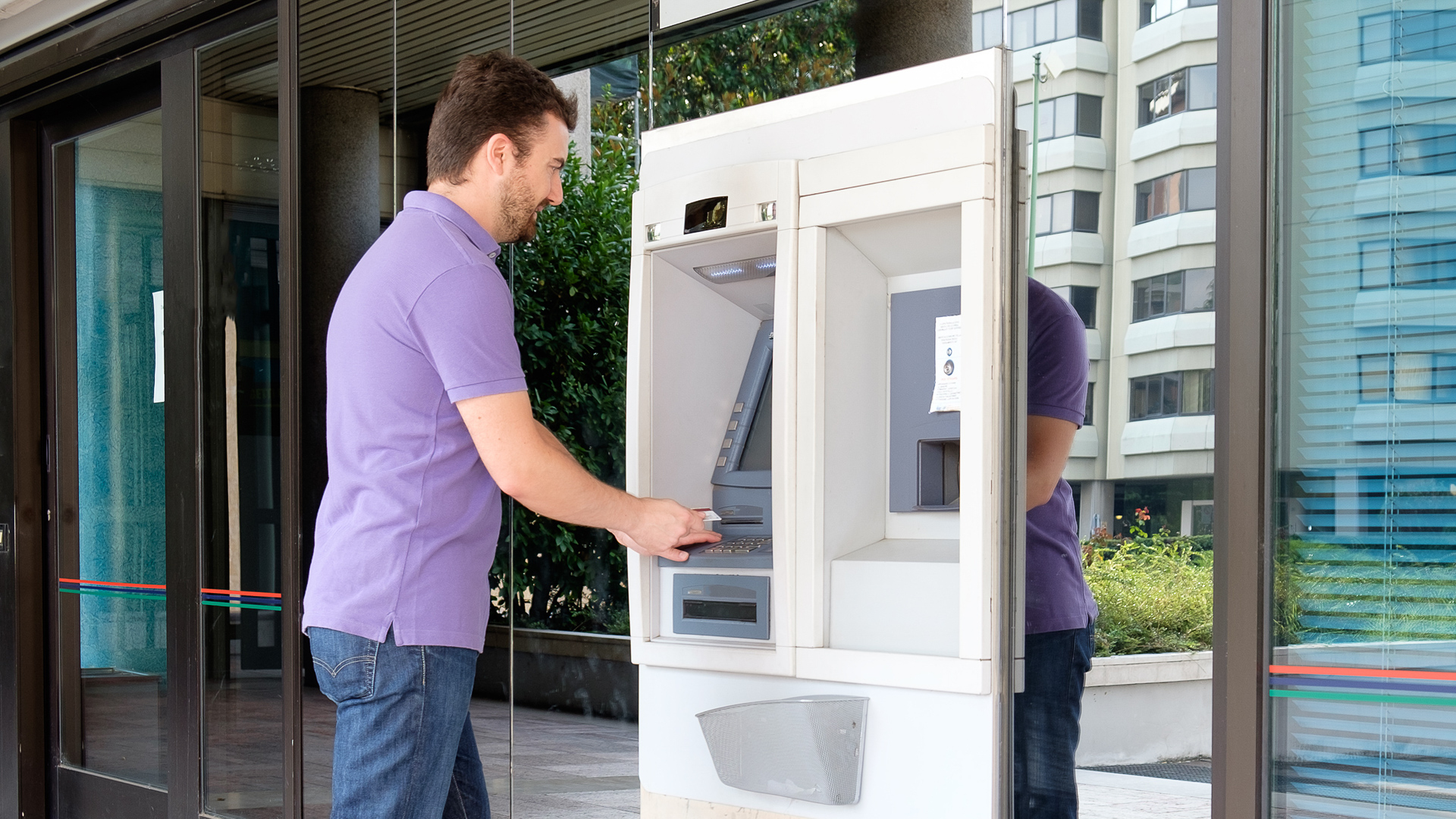 Download Bank Of America ATM Banking Machine Editorial Photo - Image of  automatic, machine: