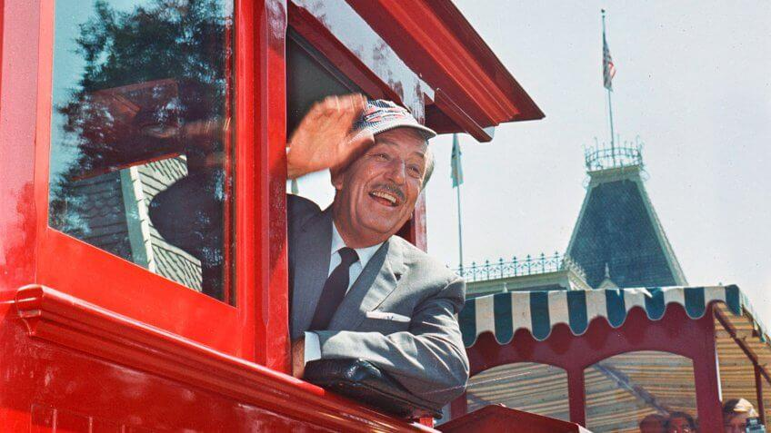 """DISNEYLAND RAILROAD (1966) -- One of Disneyland's original attractions from opening day and arguably Walt Disney's personal favorite, the trains of the Disneyland Railroad have """"covered enough track"""" in 50 years to circle the earth more than 200 times."""