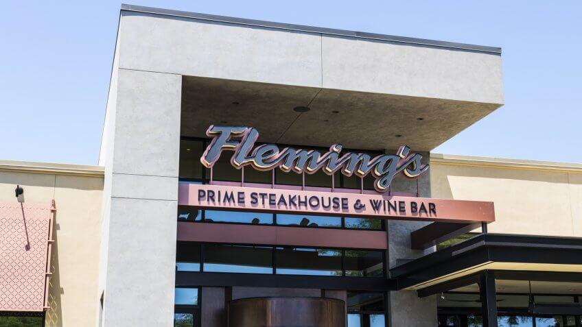 Las Vegas - Circa July 2017: Fleming's Prime Steakhouse and Wine Bar.
