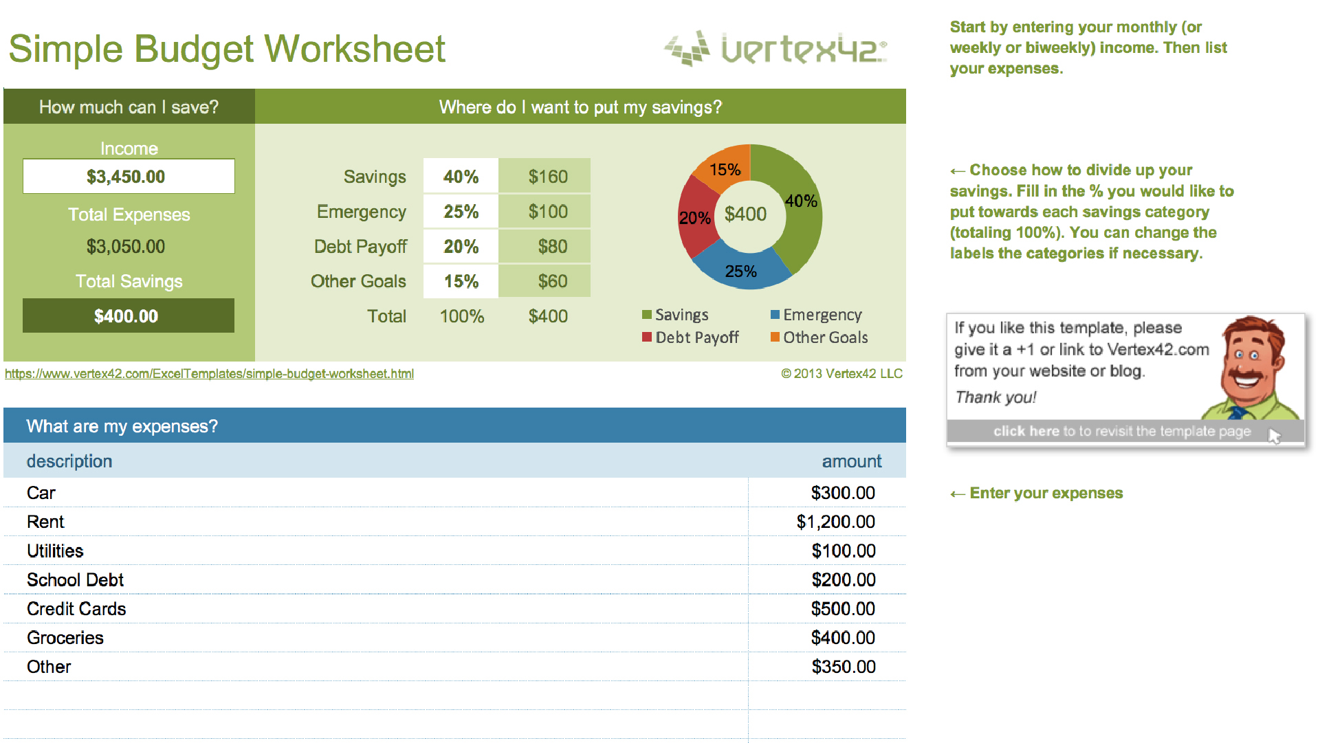 Worksheets Simple Budget Worksheet 15 easy to use budget templates gobankingrates simple worksheet