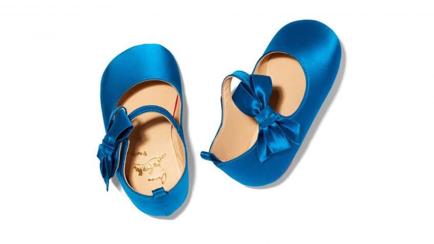 A Christian Louboutin baby shoe style.