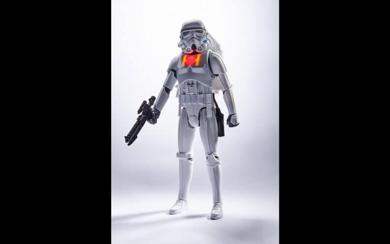 Star Wars Stormtrooper action figure.