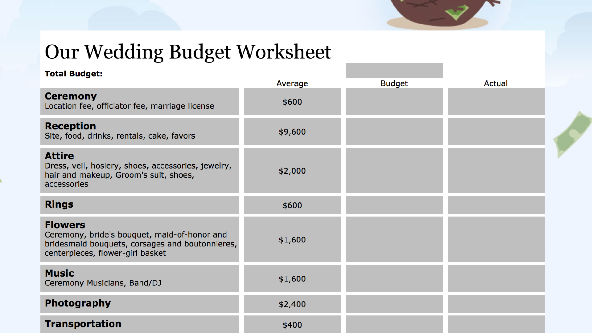 15 Easy-to-Use Budget Templates | GOBankingRates