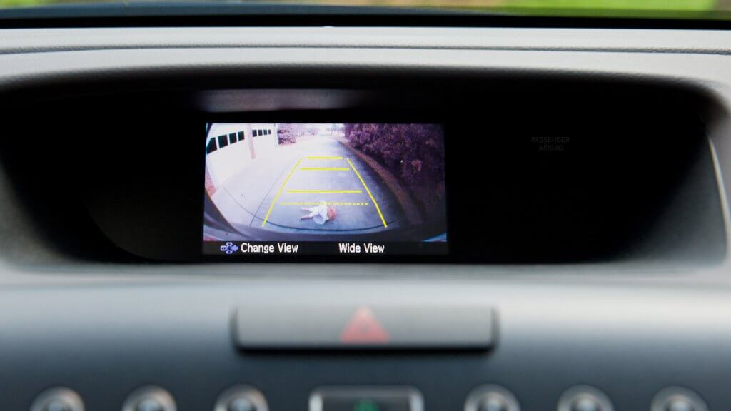 a car's rear view camera