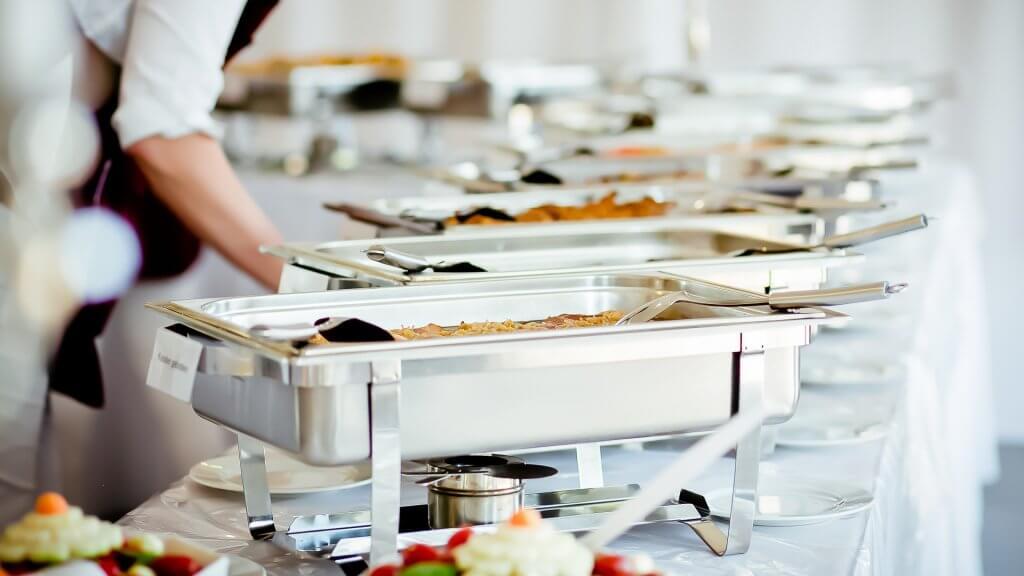 buffet style food