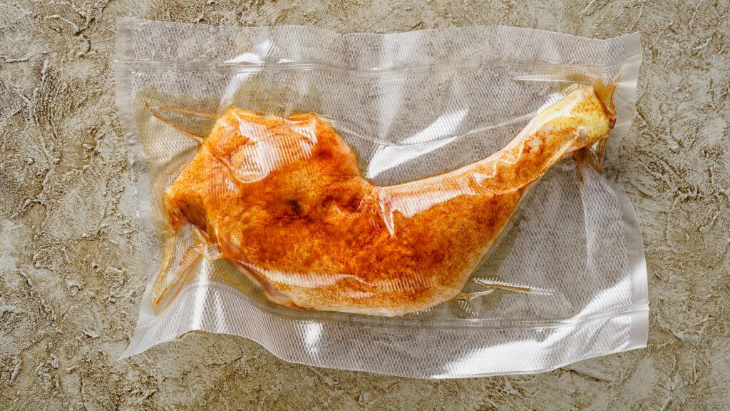 turkey in an airtight bag