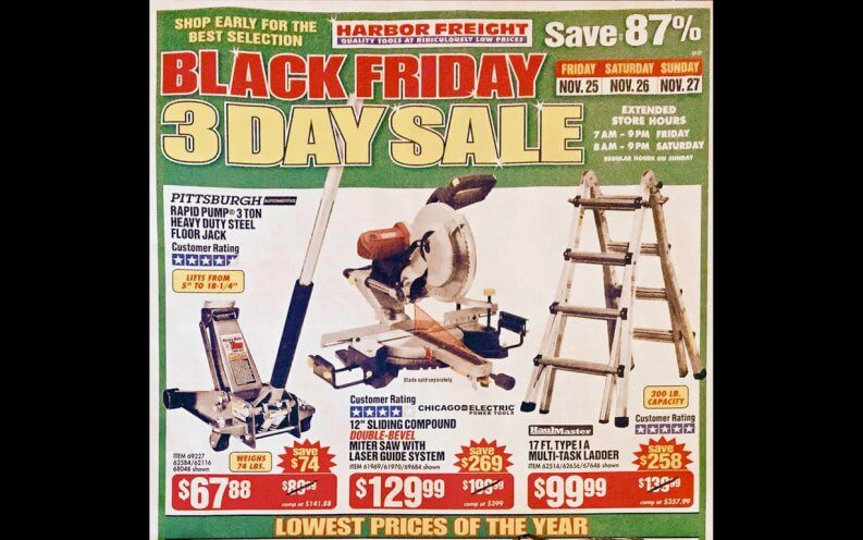 Harbor Freight Black Friday coupon