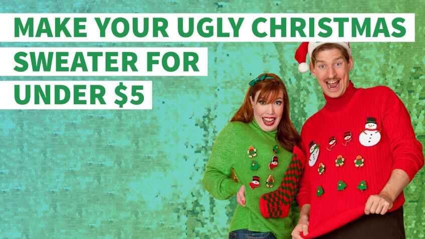 How to Make Your Own Ugly Christmas Sweater for Under $5