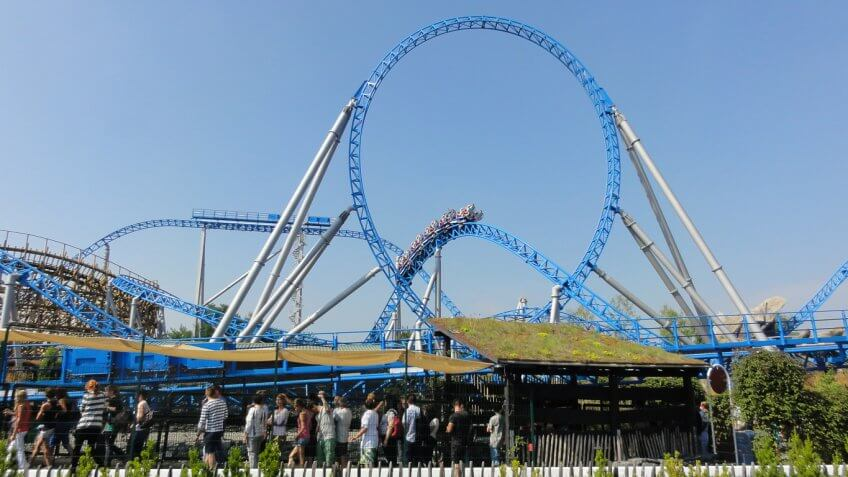 Blue Fire Megacoaster at Europa Park in Rust Germany