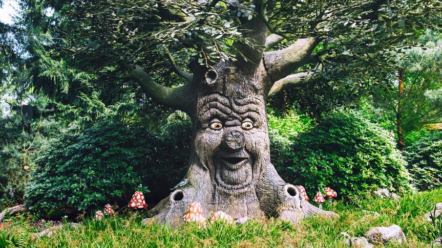 KAATSHEUVEL, NETHERLANDS - MAY 6: Fantasy themed amusement park Efteling on May 6, 2017 in Kaatsheuvel, Holland, Netherlands, Europe.