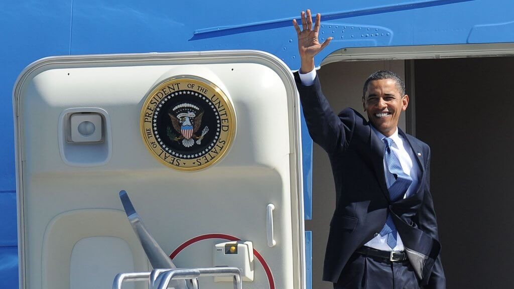 Obama on Air Force One