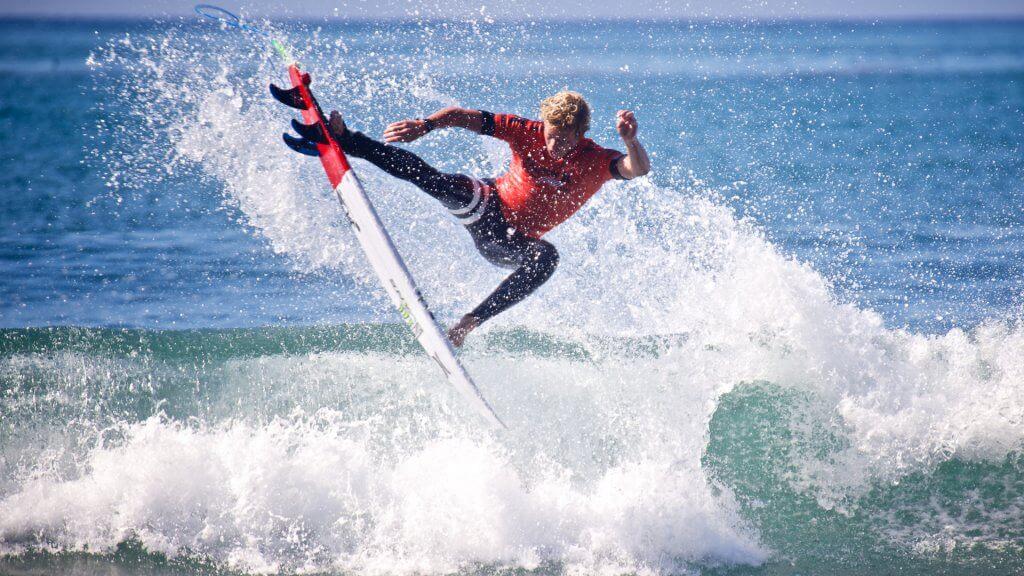 John John Florence surfing