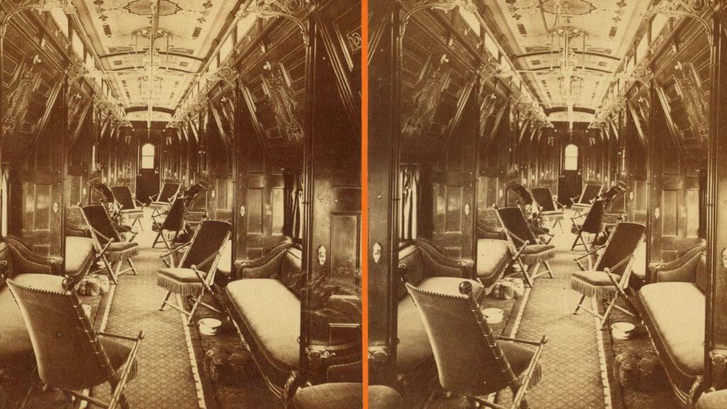 Pullman Palace Sleeping Car Palmyra interior by Watkins Carleton E 1829 to 1916