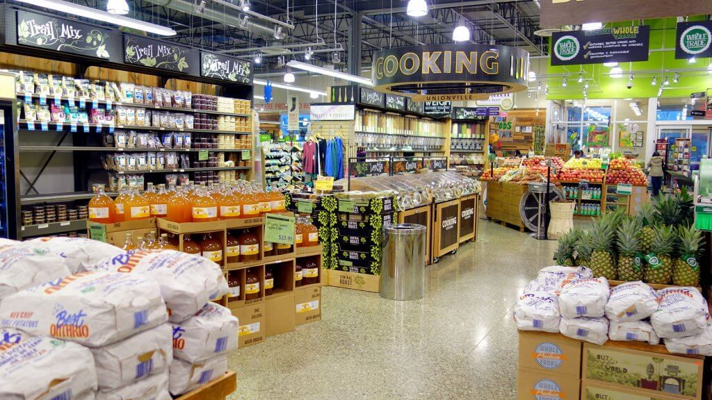 inside of a whole foods store