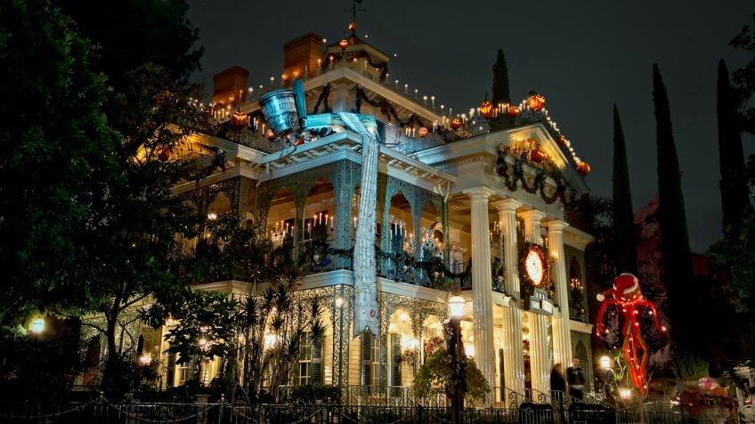 Haunted Mansion at Disneyland and the Magic Kingdom